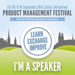 I'm as Speaker at the Product Management Festival